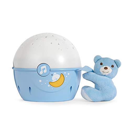 Chicco Next2Stars Luz de Noche Bebé con Peluche - Proyector con Luz de Estrellas para Cunas y...