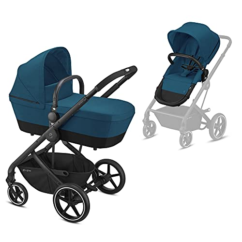 Cybex Gold Balios S 2-En-1, silla y capazo convertible River Blue