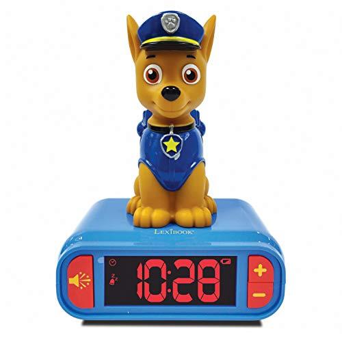 LEXIBOOK integrada-RL800PA Reloj Despertador La Patrulla Canina de Chase con Pantalla LCD Digital y...