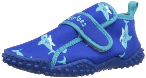 Playshoes Zapatillas de Playa con protección UV Tiburón, Zapatos de Agua Unisex Niños, Azul (Blau...