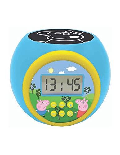 LEXIBOOK- Reloj Despertador con proyector Peppa Pig con función de repetición y Alarma, luz...