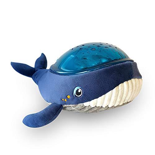 Pabobo x Kid Sleep - Lámpara de noche musical y luminosa para niños y bebés, diseño de ballena,...