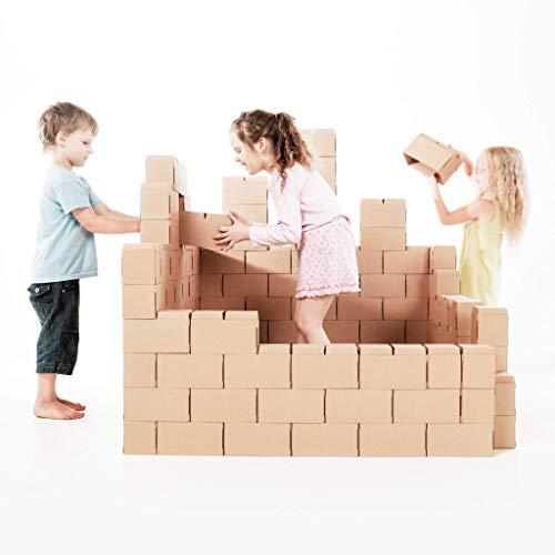 Gigi Bloks Bloques de Construcción Gigantes de Cartón | Juegos de Construcción para Niños 100...