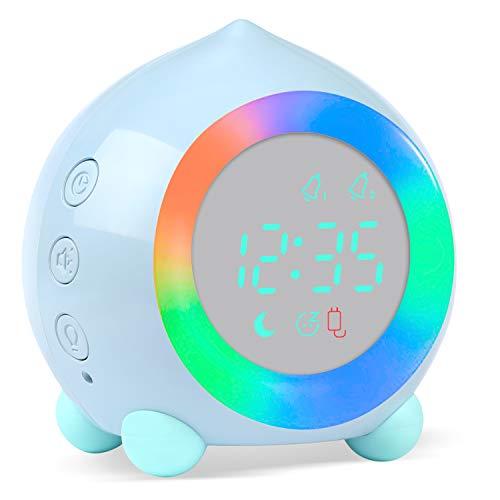 PROKING Reloj Despertador Infantil Digital, Despertador Digital Simulador de Amanecer Despertador...