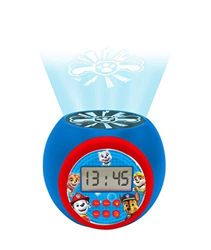 Lexibook Despertador con proyector de La Patrulla Canina, función repetición de la alarma, luz de...