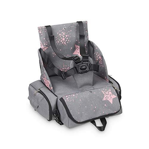 Innovaciones MS 1333 - Booster Bag Stars - Trona De Viaje Portátil, Asiento De Bebés Blando Y...