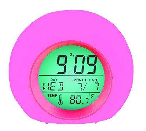 YUES Reloj Despertador Digital para niños,LED Reloj Alarma con 7 Colores Cambio de luz con...