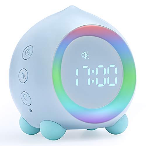 Despertador digital para niños con luz para despertar Despertador inteligente con entrenamientode...