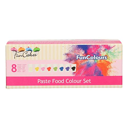 FunCakes FunColours Set de 8 Colorantes Concentrados Alimenticios en Pasta para Hornear, Decorar,...