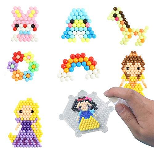 shafier Abalorios Cuentas de Agua 8000 Perlas 32 Colors/Hama Beads/para Niños DIY Artesanía...