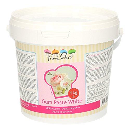 FunCakes Pasta de Goma Blanca de FunCakes: Perfecta para Flores de Azúcar, Hojas Finas, Ruffles y...