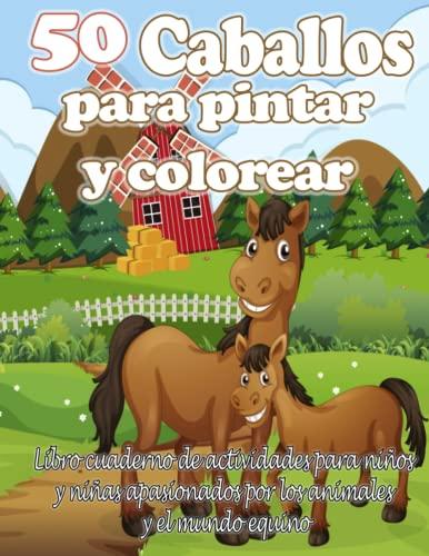 50 caballos para pintar y colorear