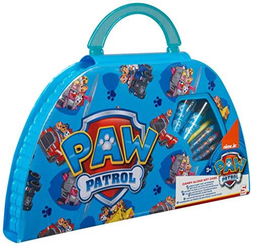 Paw Patrol Maletín Pinturas Para Niños, Estuche Colores De La Patrulla Canina, Estuche Pinturas...