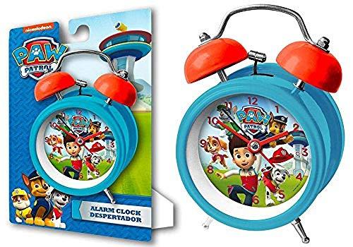Kids Euroswan Reloj Despertador para Campanas de 9 cm Modelo Paw Patrol, Compuesto, Multicolor,...