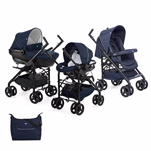 Chicco Trio Sprint Carrito de Bebé 3 Piezas con Sistema de Viaje Modular Apto de 0 a 36 Meses,...