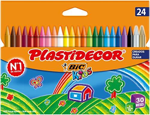 BIC Kids Ceras de Colores para Niños, Óptimo para material escolar,Plastidecor, Colores Vivos...