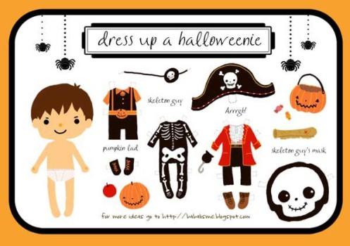Recortables de muñecas de Halloween gratis