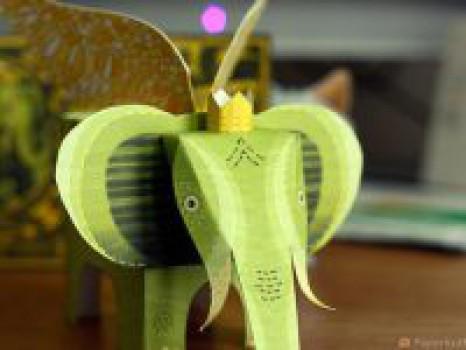 Recortables infantiles: Un elefante con alas