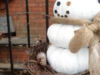Nuestro primer muñeco de nieve reciclado