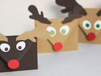 Sobres para las postales de Navidad, una manualidad divertida…