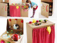 Manualidades de cartón: Construir una cocinita de juguete