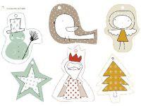 Etiquetas de regalo para Navidad