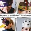 Sombreros, coronas y máscaras de Carnaval
