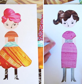 Muñecas de papel para entretener a los niños
