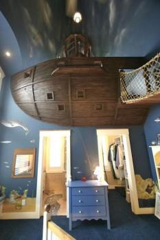 """Una habitación infantil """"para piratas"""""""