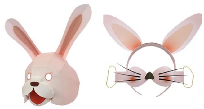 Manualidades para Pascua: Caretas de conejito de Pascua