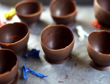 Cuencos de chocolate para tu fiesta infantil ¡qué receta más divertida!