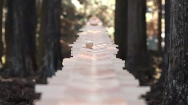 Un xilófono en el bosque