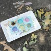Pintura infantil efecto tiza