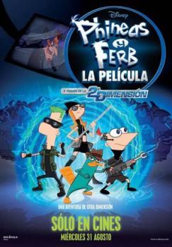 La película de Phineas y Ferb, a través de la segunda dimensión