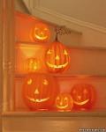 Calabazas de Halloween de papel maché