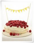 Cómo decorar tartas con guirnaldas