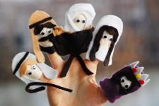 Figuras de Belén con marionetas de dedo