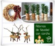 Adornos de Navidad con corchos