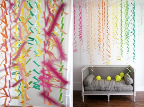 Decoración de una fiesta infantil con papel