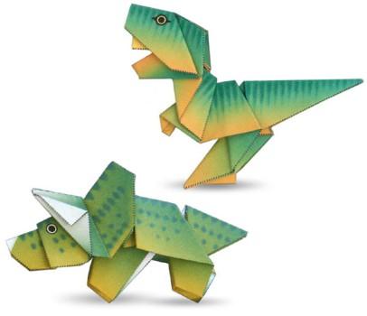 Papiroflexia Origami: Dinosaurios de papel