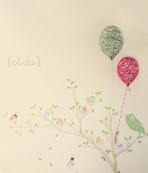 Globos decorativos para la habitación infantil