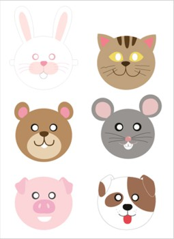 Caretas de animales para imprimir