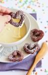 Churros con chocolate blanco, ¡qué originales!