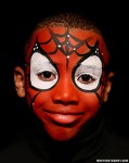 Maquillaje infantil de Spiderman