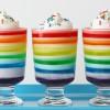 Gelatina de colores para una fiesta infantil