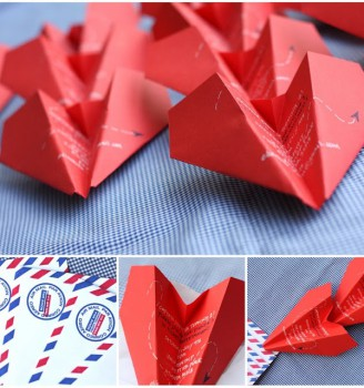 Invitaciones de cumpleaños en forma de avión