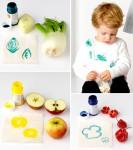 Pintar con frutas