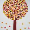 Manualidad con bastoncillos: Pintar árboles de Otoño