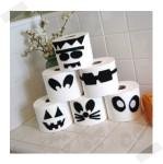 Decoración de Halloween: monstruos de papel higiénico