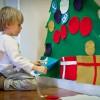 Un árbol de Navidad en fieltro, ¡qué divertido!